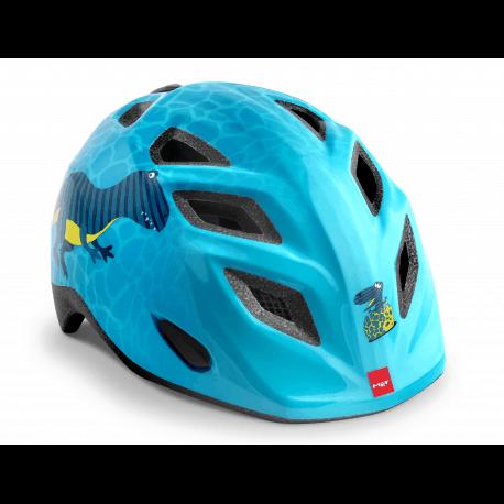 met elfo genio blå dinosaur hjelm